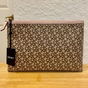 DKNY Large Top Zip Pouch/Cosmetic Bag